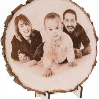 Foto auf Holz gravieren Fotogravur